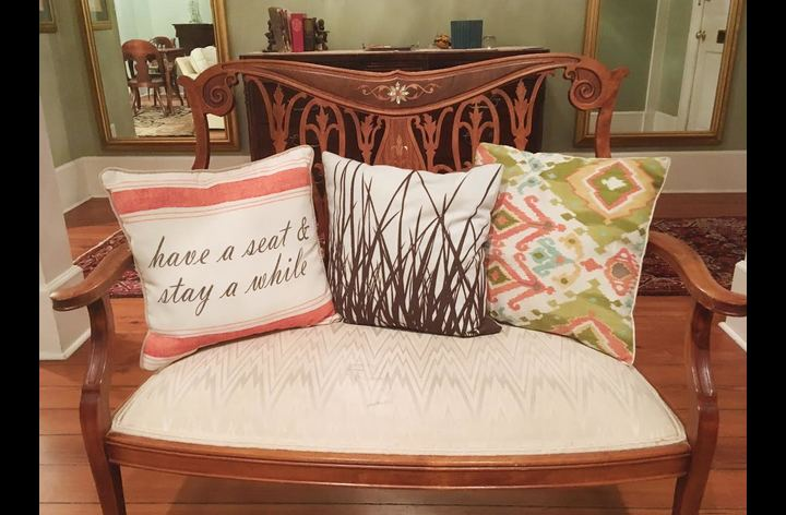 Like the pillow says...have a seat!