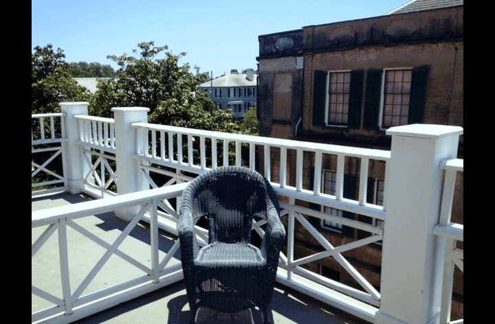 Rooftop overlooking historic Savannah.